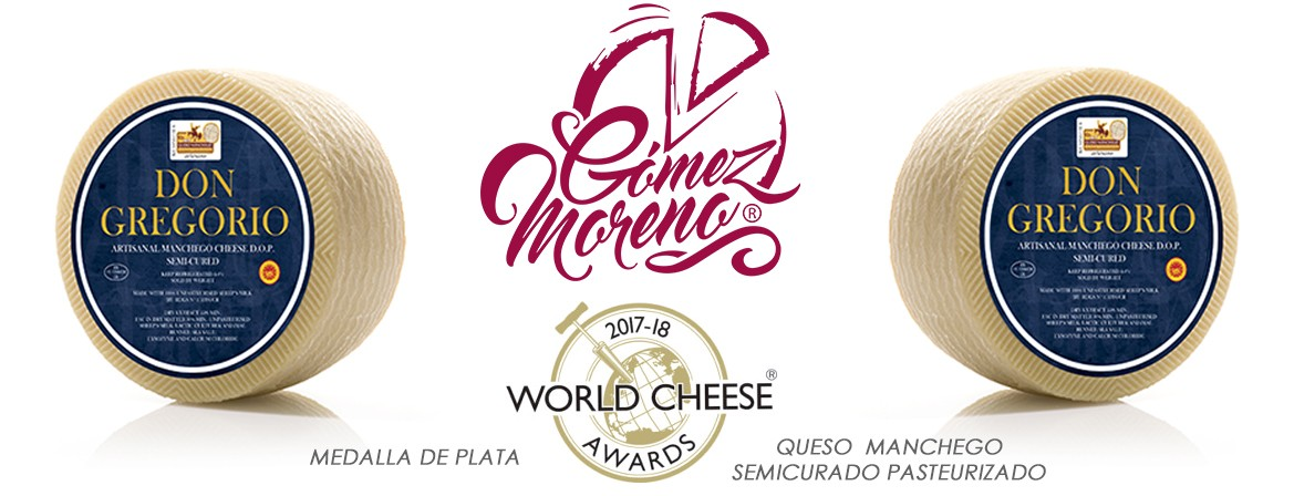 Don Gregorio - Medalla de plata 2018 World Cheese Awards